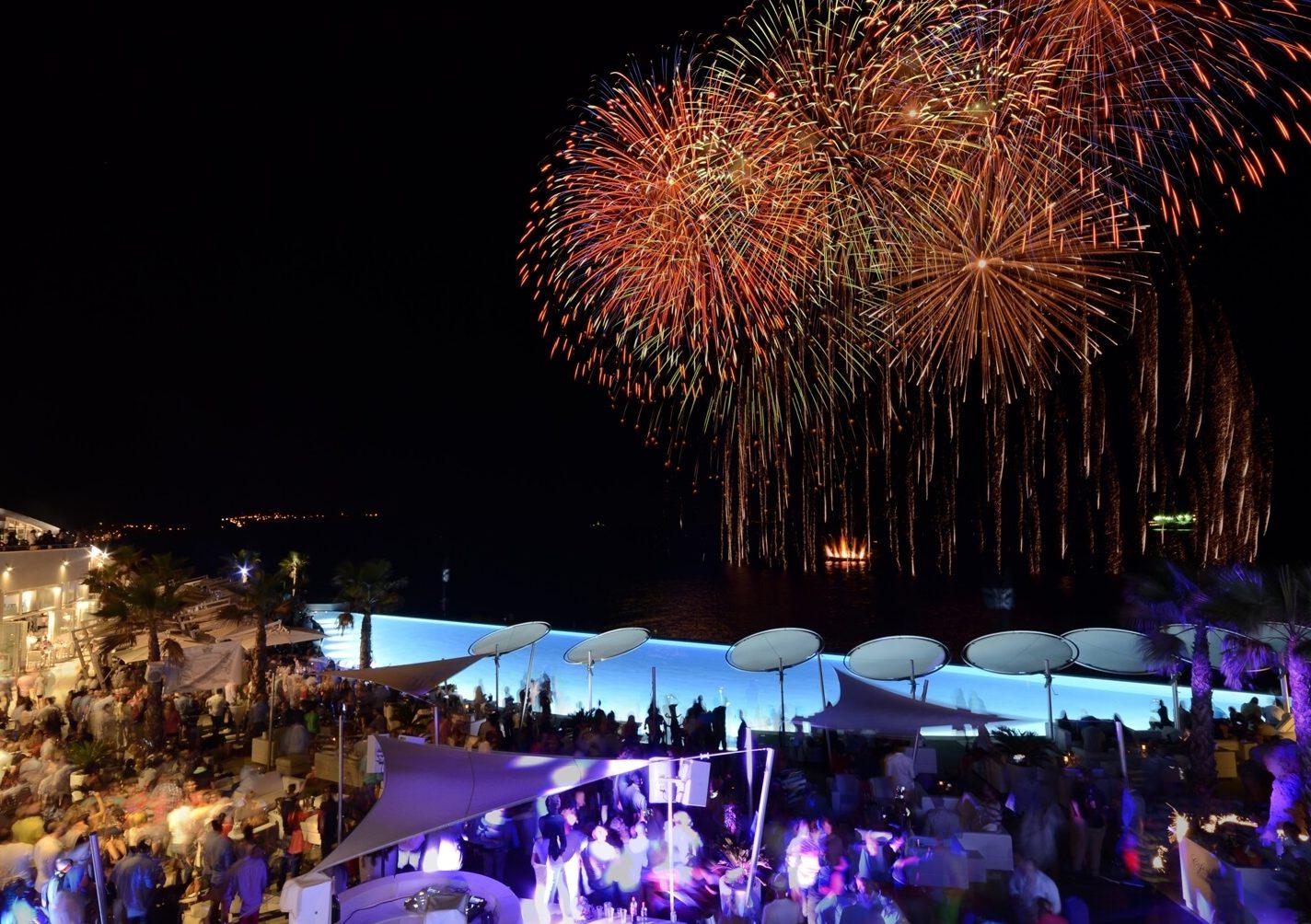 Cafe Der Mar Malta Fireworks