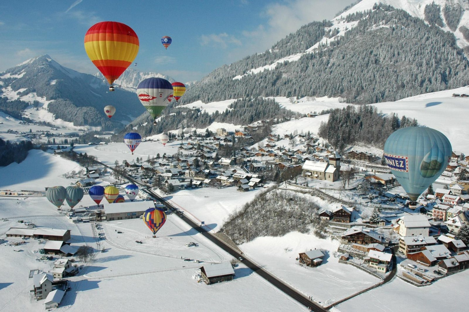 Château-d'Oex in switzerland hot air balloon festival unique destinations in europe