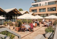 Flora at Joy, Portobello Docks al fresco dining london