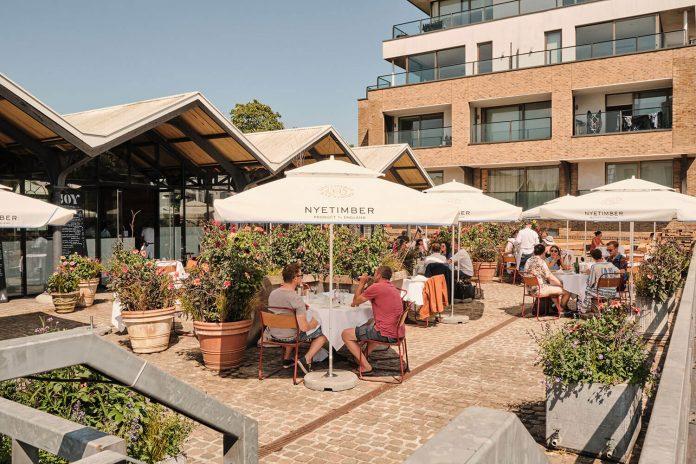 Flora at Joy, Portobello Docks al fresco dining london