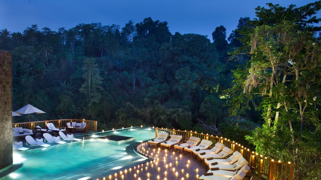 hanging gardens bali coolest pool in the world