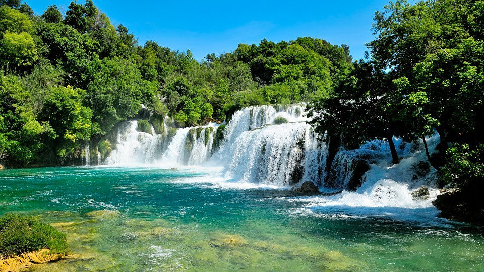 Krka waterfall in croatia