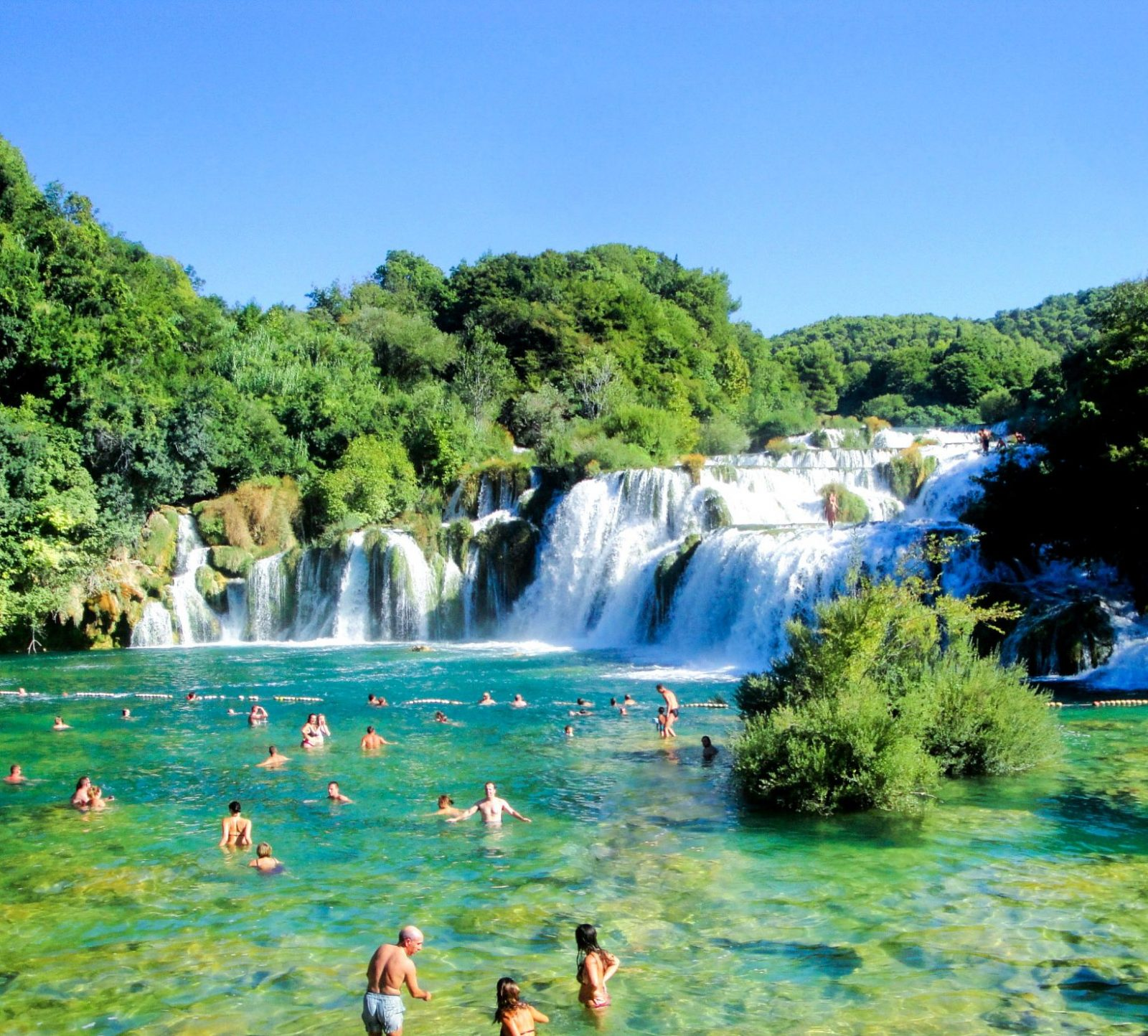 krka waterfalls in croatia split