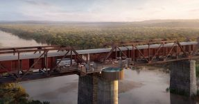 KRUGER SHALATI : HOTEL FORMED OF TRAIN CARRIAGES ON A BRIDGE