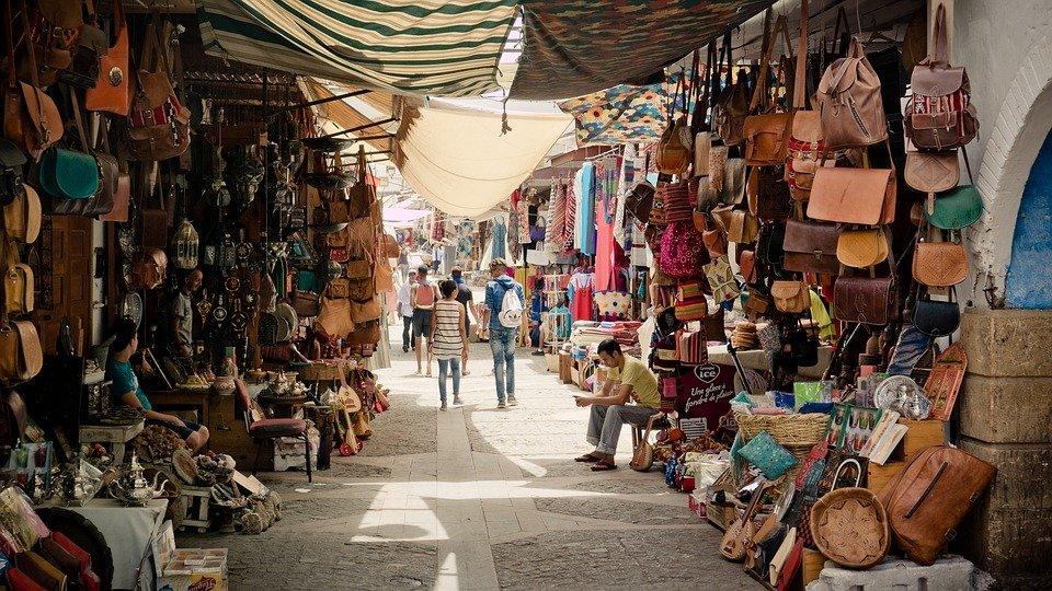 Marrakech souk april holiday destination