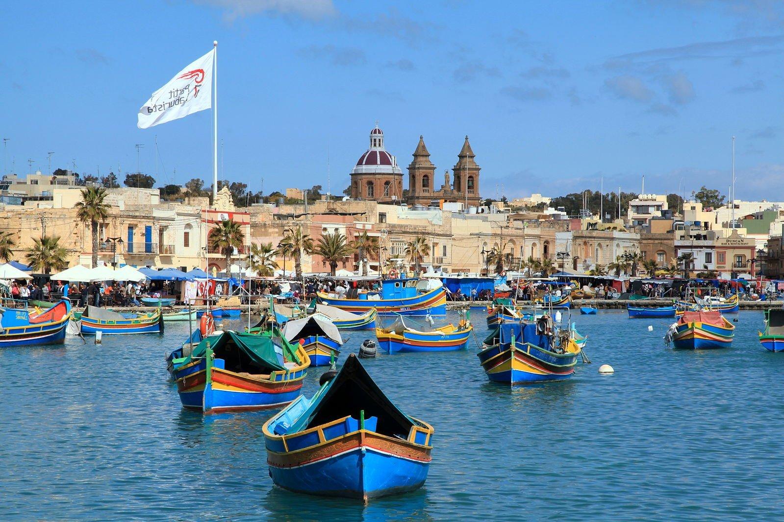 Marsaxlokk fishing village Malta