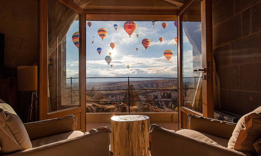 Millstone Cave Suites Hotel best view of the balloons hotel