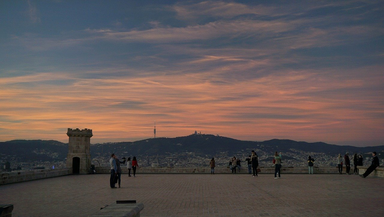 Montjuic Hill best view point in barcelona