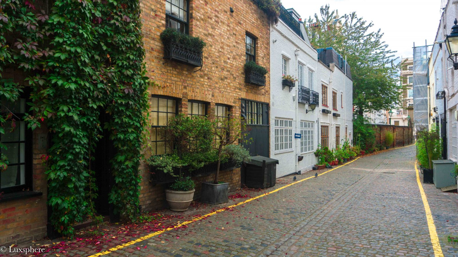 Photogenic streets in London Kynance mews