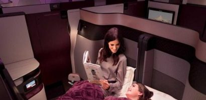 WORLDS FIRST DOUBLE BEDS ON FLIGHTS