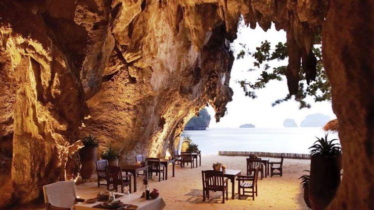 Rayavadee Krabi Dining Grottocave restaurant