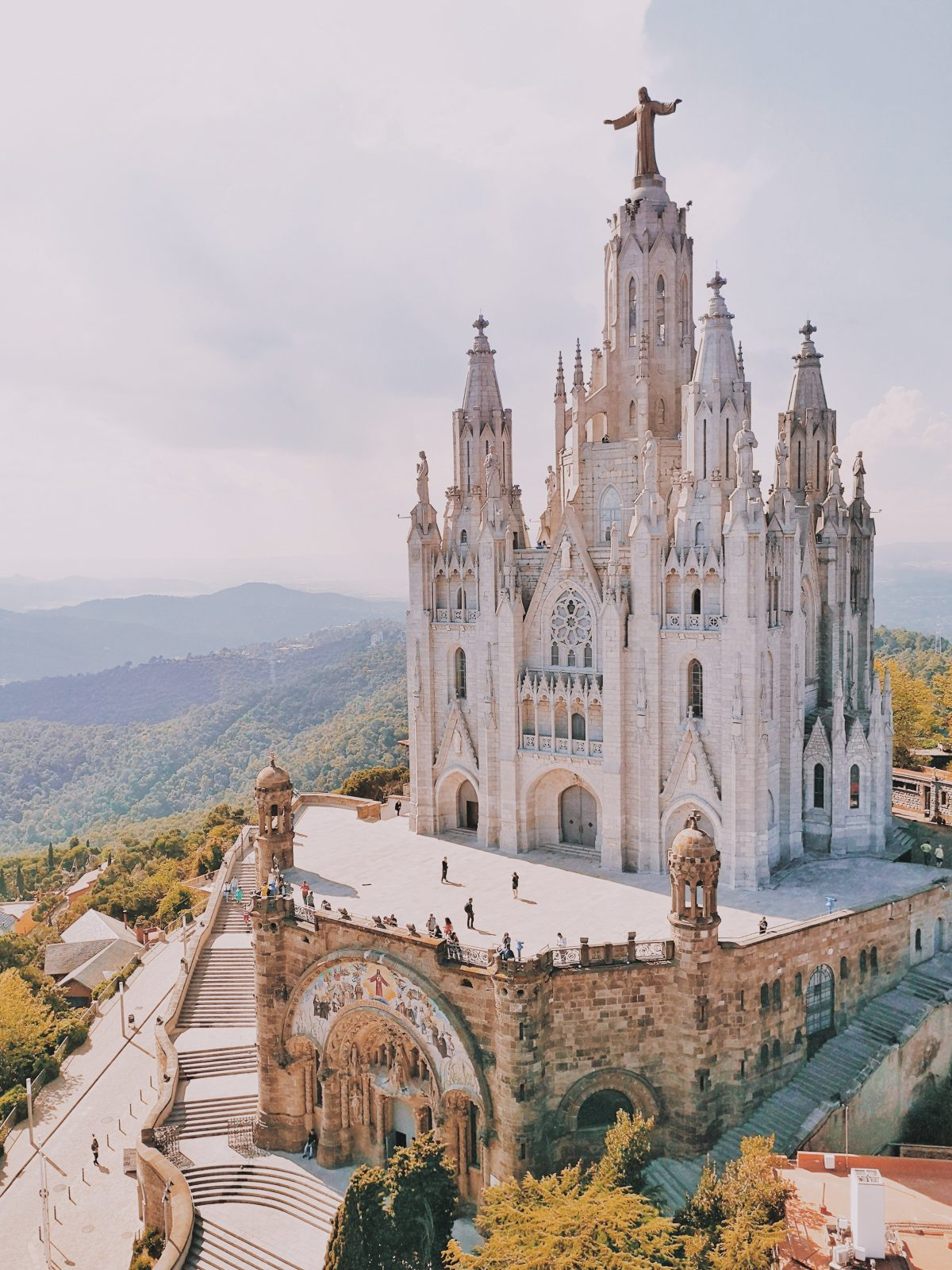 Sagrat Cor church in tibidabo best view of barcelona
