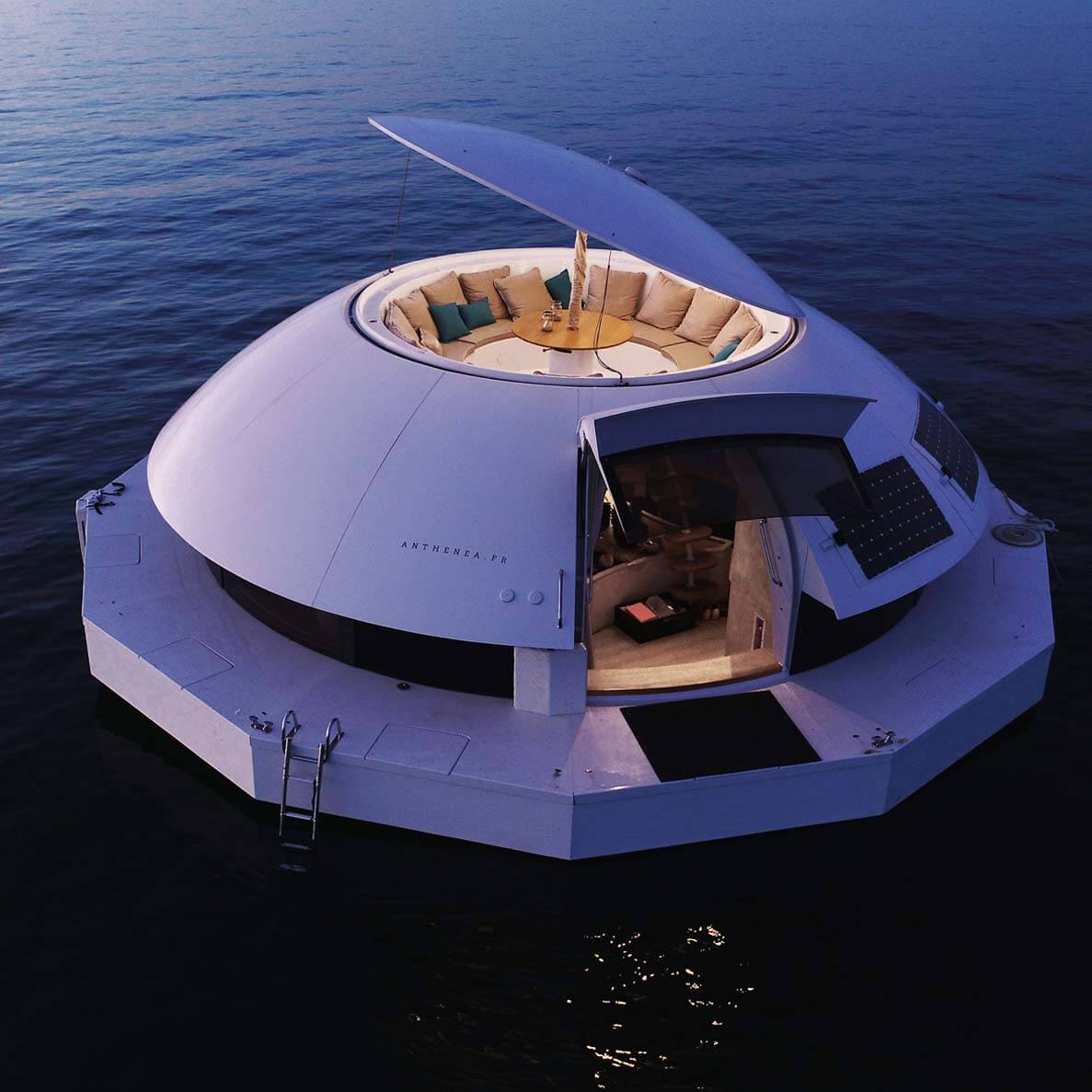 The Anthénea floating hotel