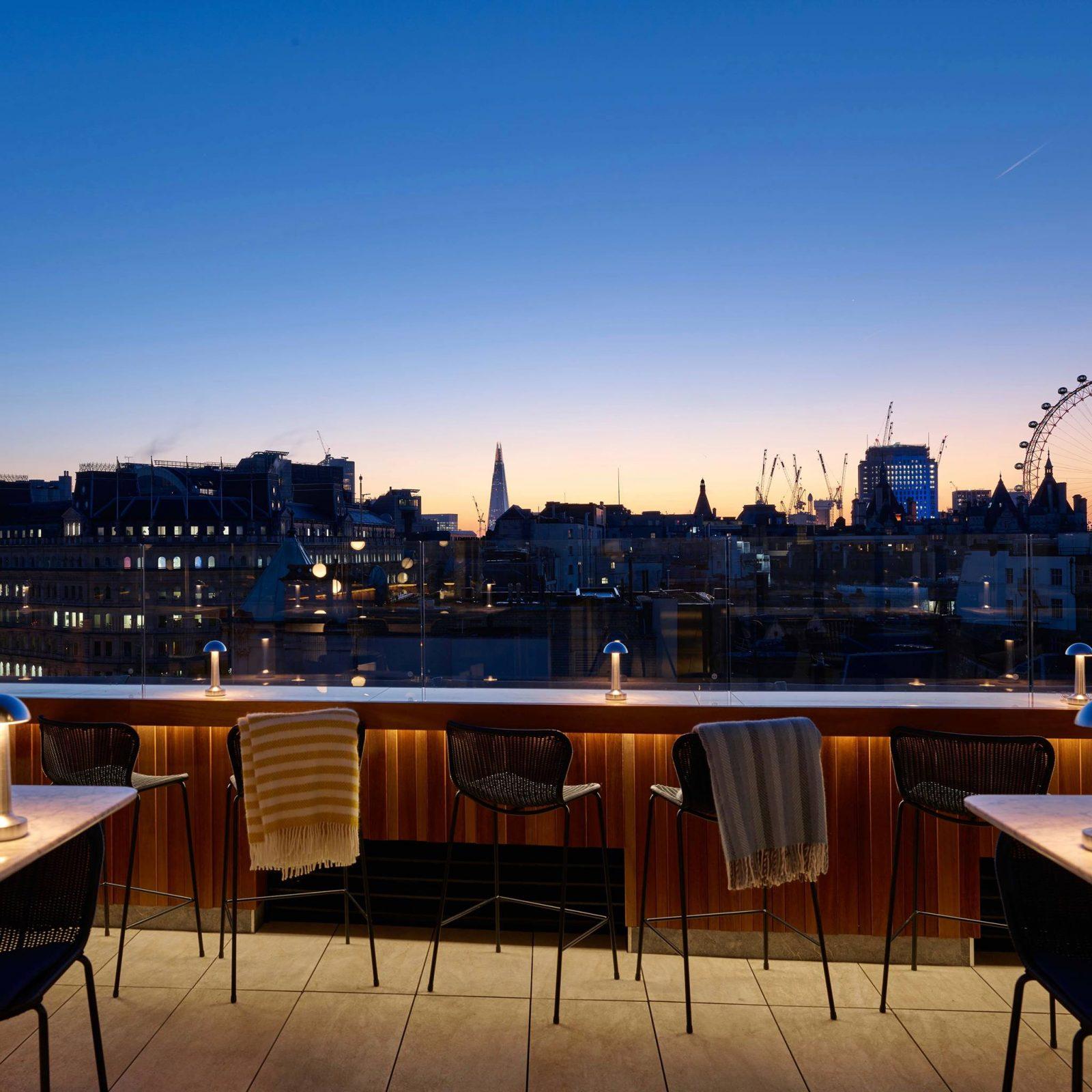 The Trafalgar st James rooftop best in london