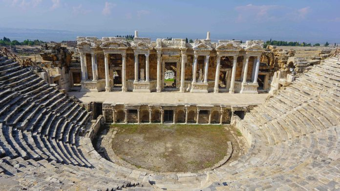 Places to see in pamukkale Theatre of Hierapolis