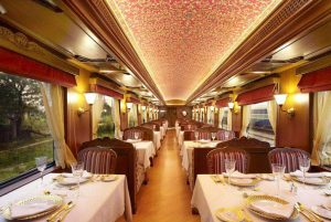 Unique Luxury Trains journeys around the World The Maharaja express India dining