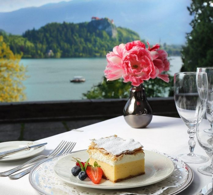 things to do in lake bled Vila Bled Terrace Lake View Bled Cake