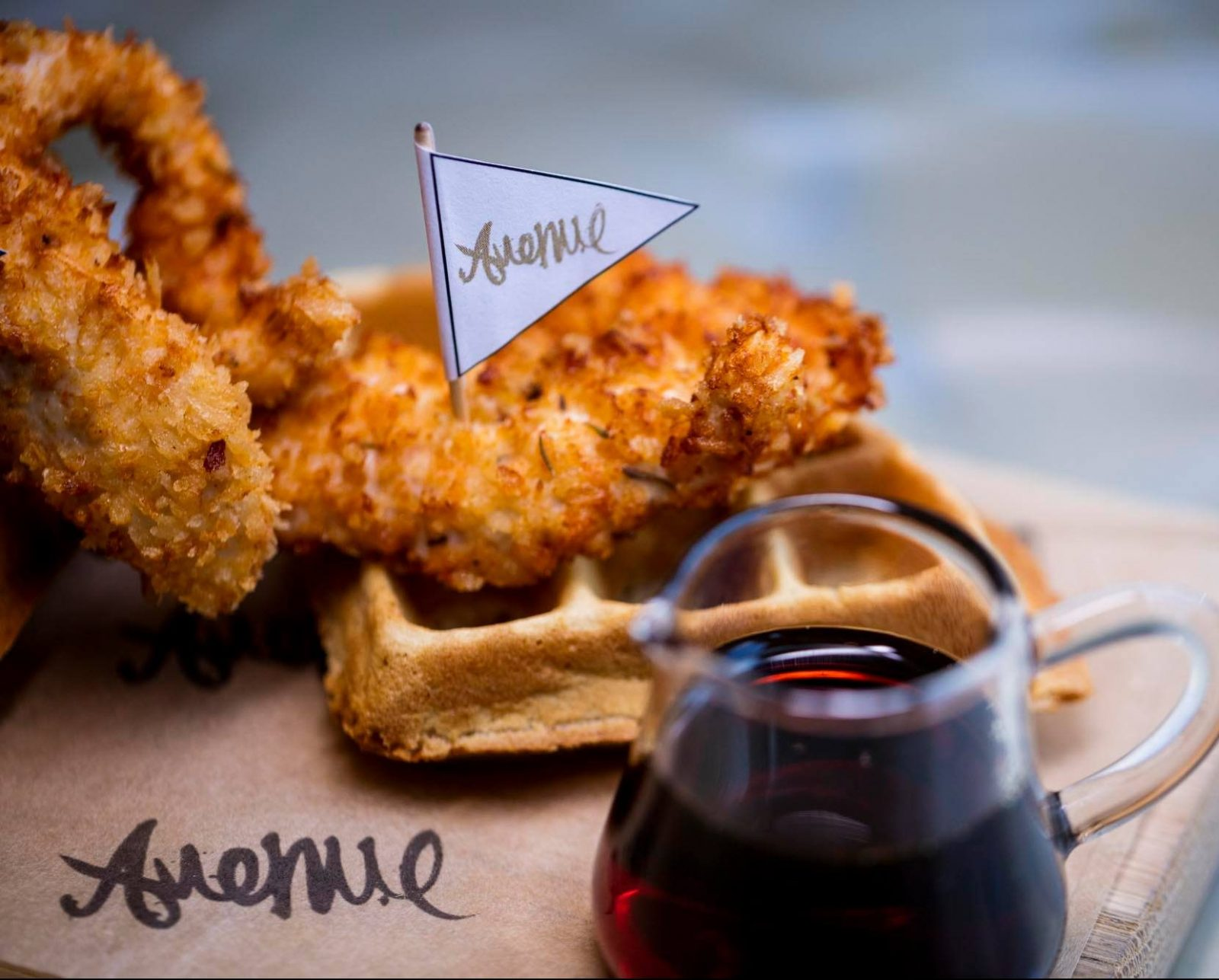 avenue restaurant london buttermilk chicken and waffle