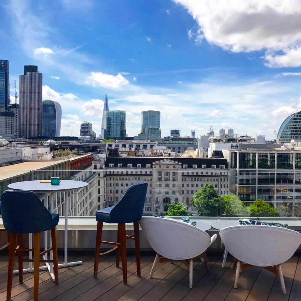 Rooftop bars in London Aviary Moorgate