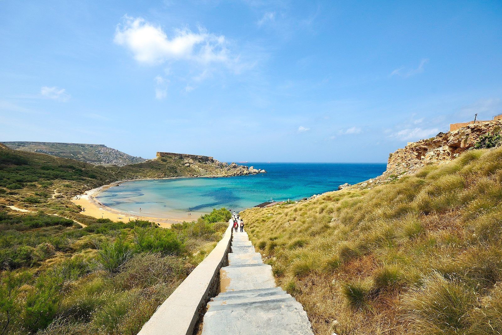 best beaches in Malta Ghajn Tuffieha Bay luxsphere travel
