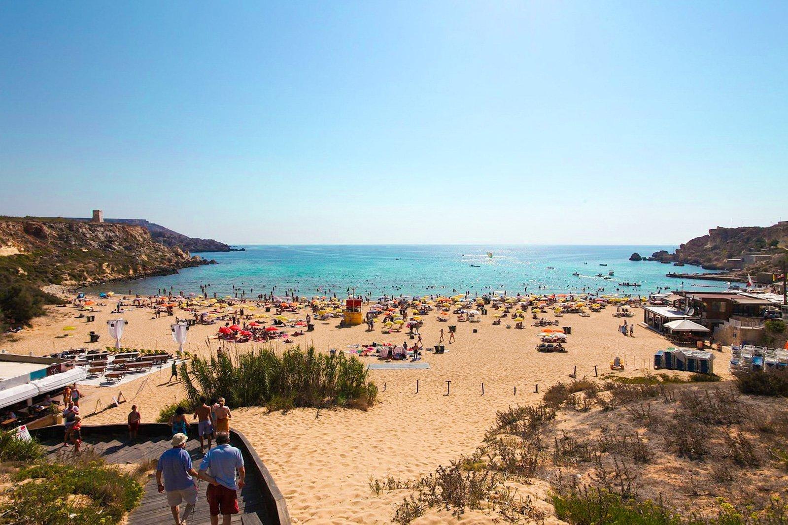 best beaches in Malta Golden Bay Luxsphere Travel