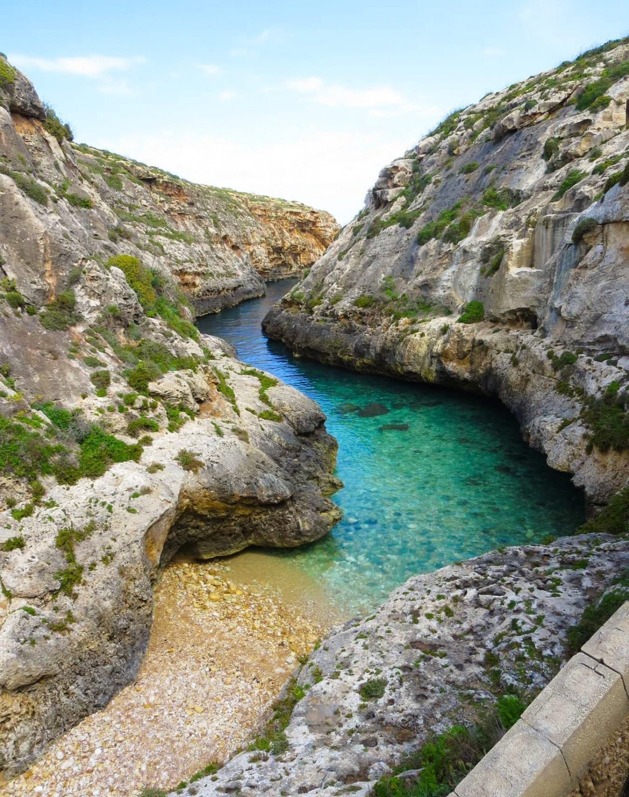 best beaches in Malta Wied il- Għasri luxsphere travel