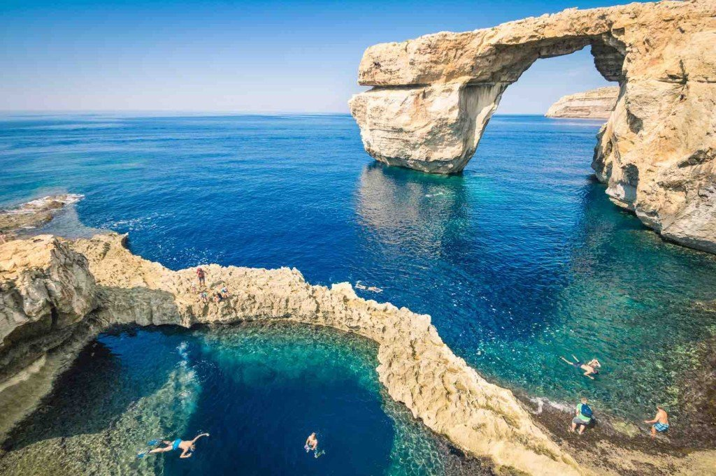 The world famous Azure Window in Gozo island