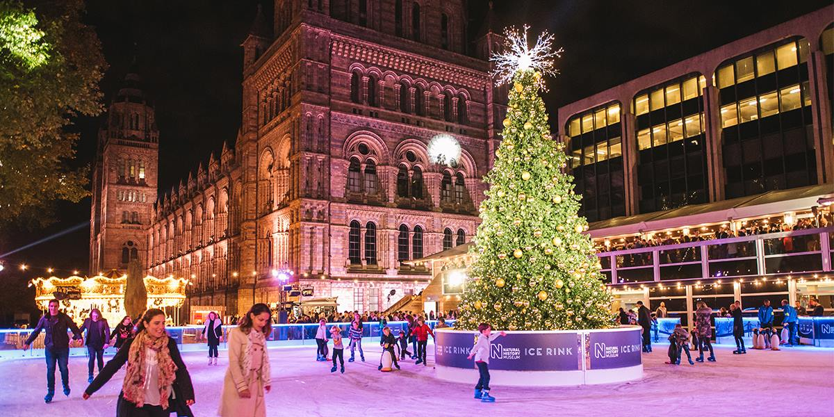 best ice rinks in london natural history museum