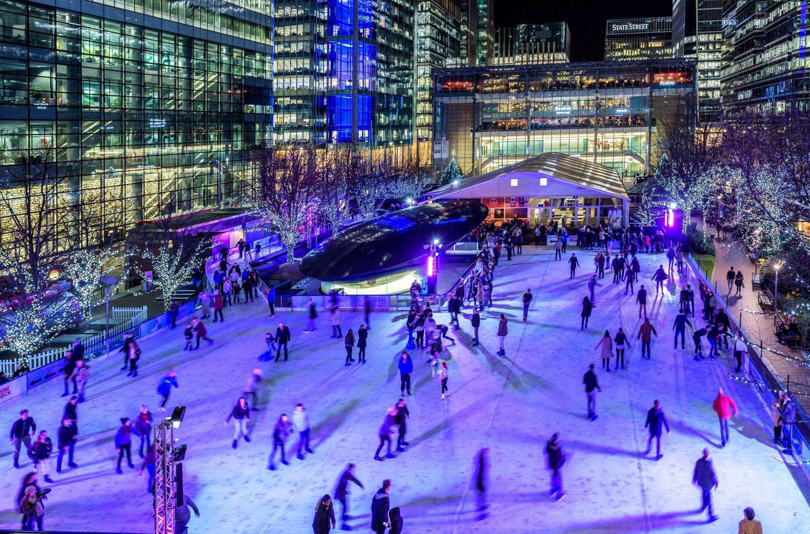 best ice rinks in london canary wharf