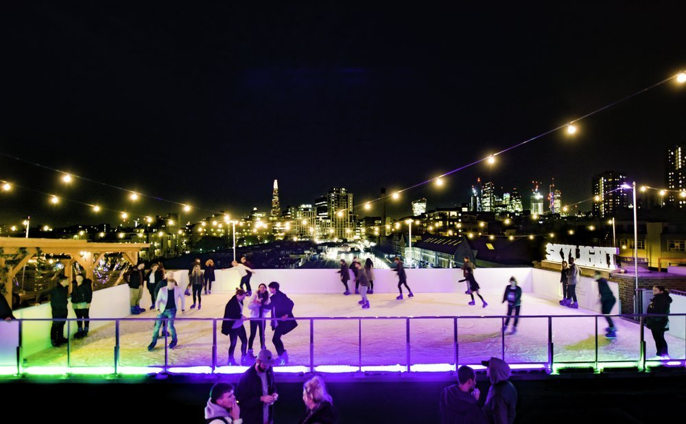 best ice skating in london skylight rooftop ice skating