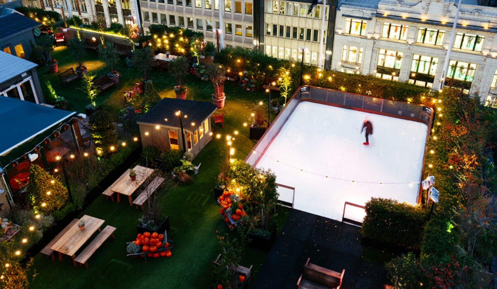 best rooftop ice skating in london john lewis rooftop