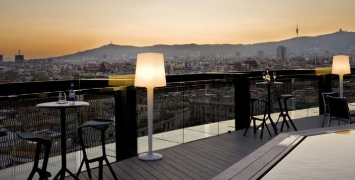 best susnet rooftop viewpoints Hotel Barceló Raval in barcelona