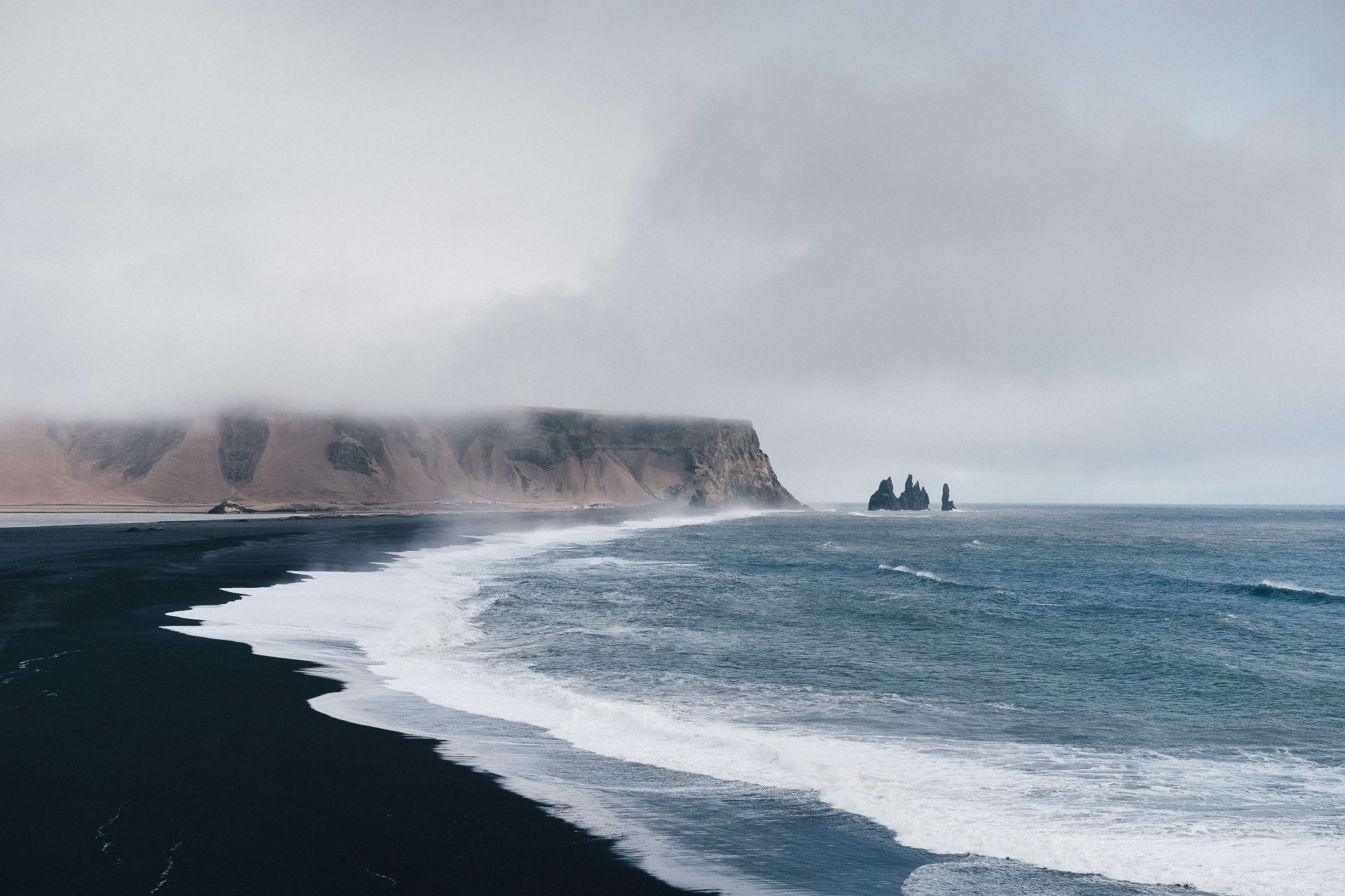 black sand beach iceland place to visit in Iceland