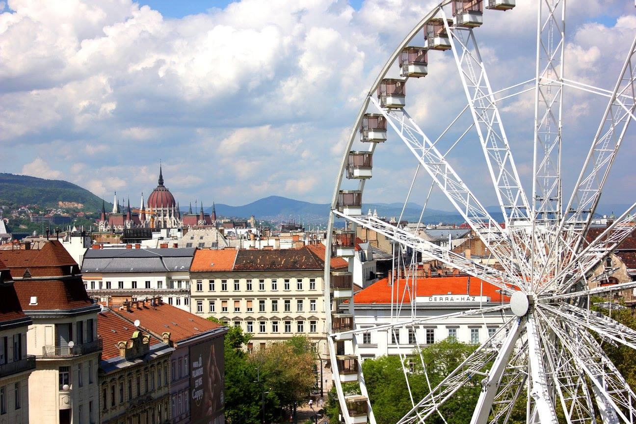Budapest things to do Budapest Eye ferris wheel