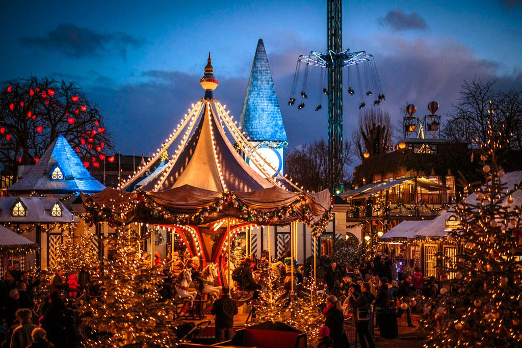 Best Christmas market Tivoli denmark in Europe