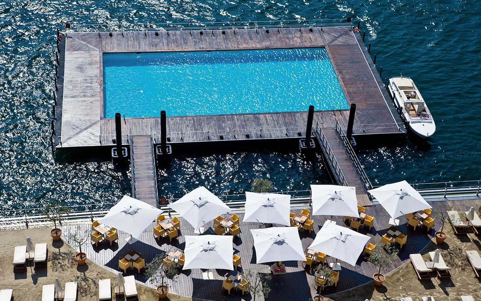coolest pool in the world lake como