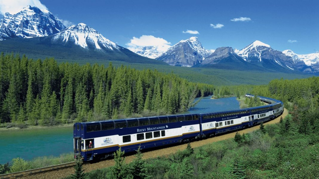 glass train through the canadian rockies