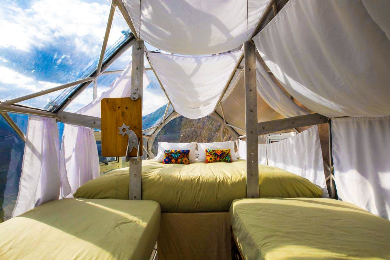 hanging capsules in peru sky lodges luxsphere travel