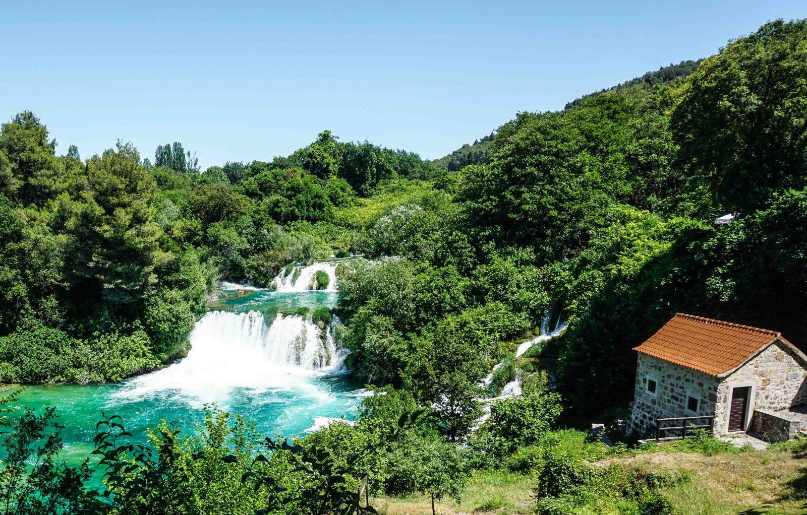 landscape at krka national parks