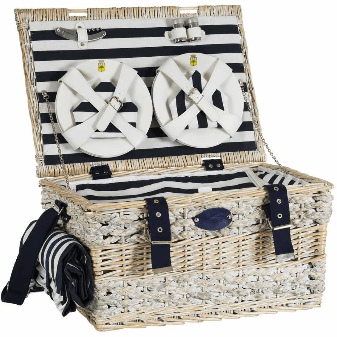 luxury picnic basket marine Les Jardins de la Comtesse