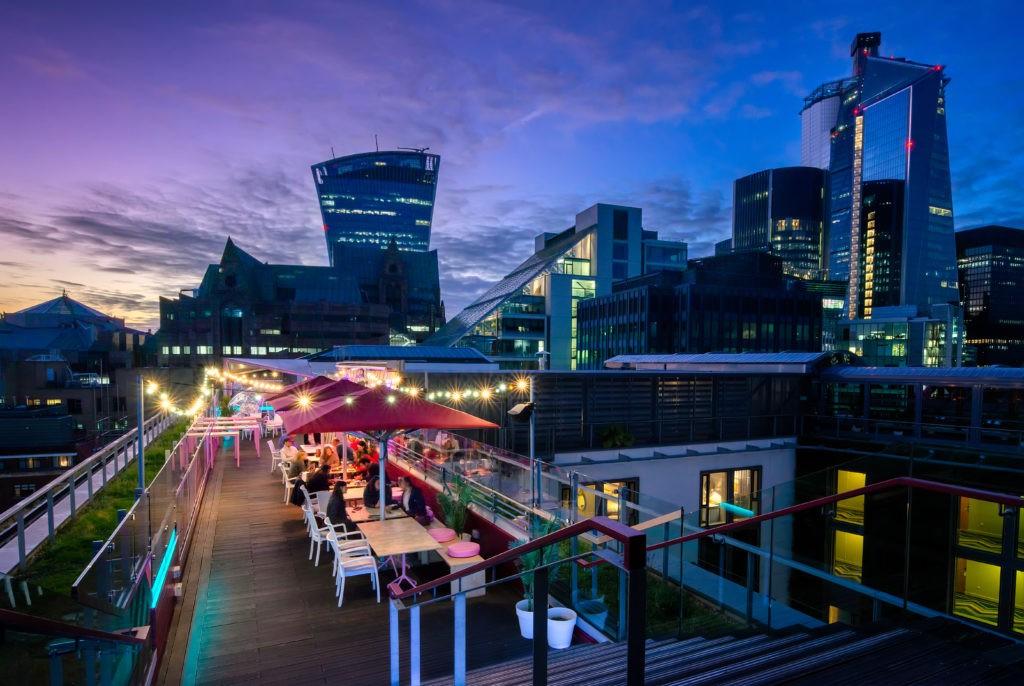 savage garden rooftop bars in london
