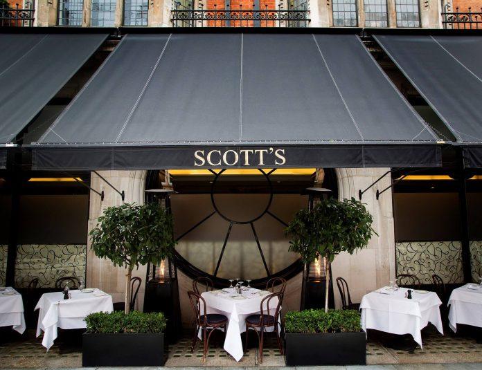 scotts mayfair al fresco dining london