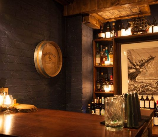 smallest bar in London. The brig intimate bar