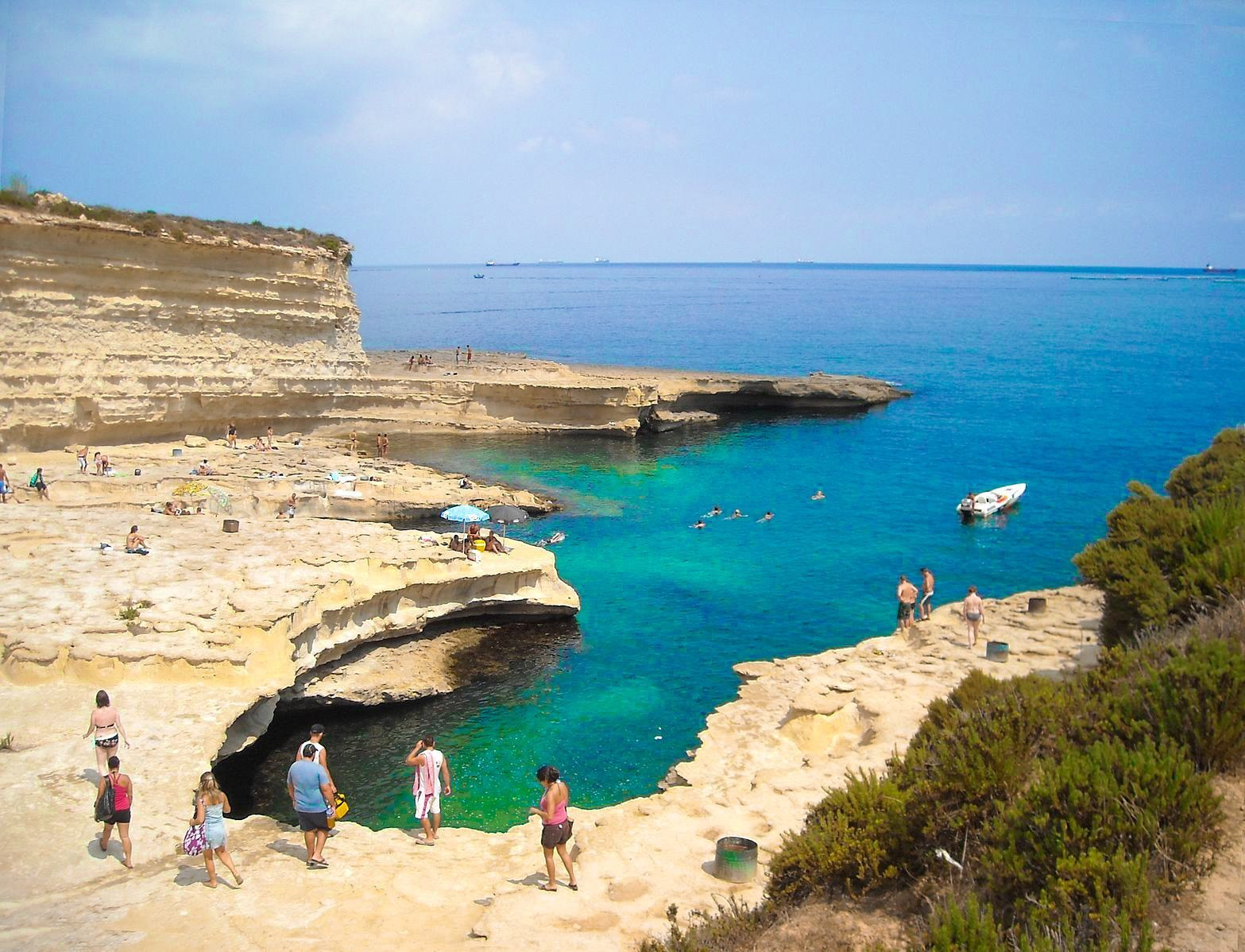st peters pool best cliff jumping beaches in malta