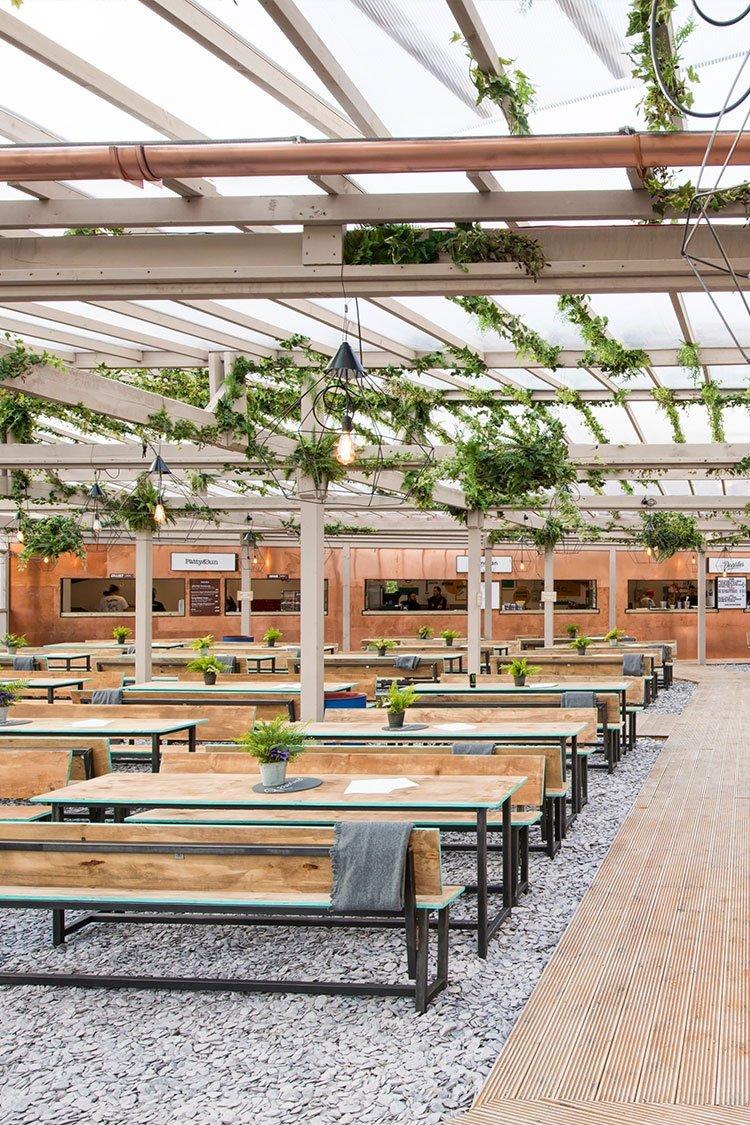 Rooftop bars in London Pergola Paddington