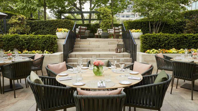 terrace at four seasons al fresco dining london