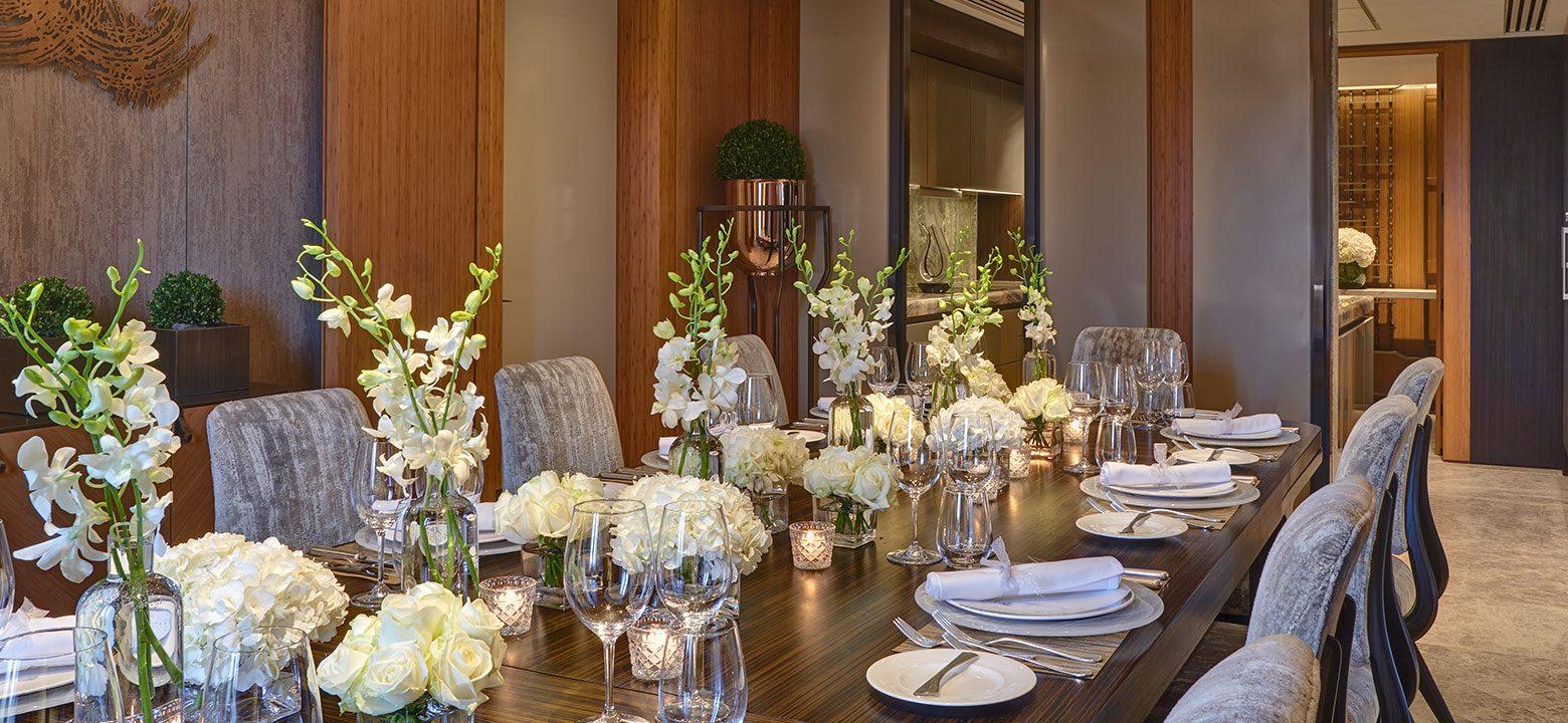 the berkeley opus suite knightsbridge dining room