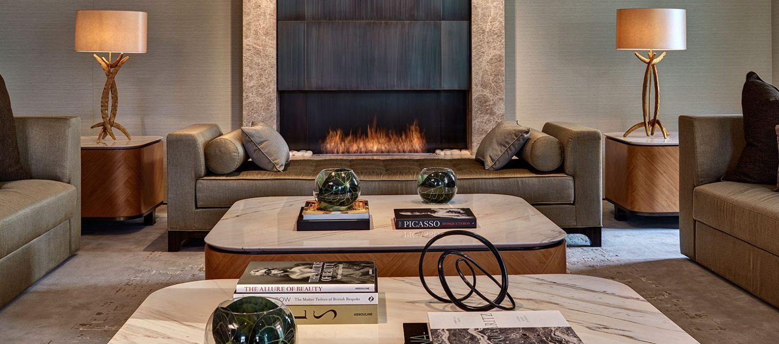 the berkeley opus suite knightsbridge fireplace