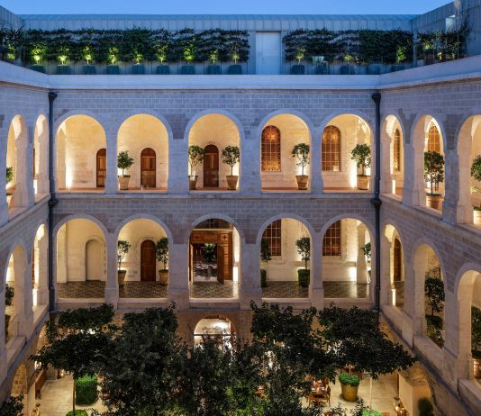 the jaffa hotel in tel aviv courtyard