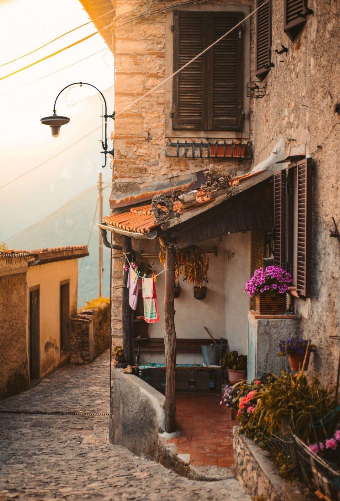 tuscan town metato during autumn